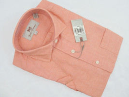 NEW! NWT! $145 Hickey Freeman Linen & Cotton Oxford Shirt!  S  *Short Sleeved* - $69.99