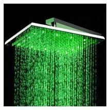 16 inch Stainless Steel Shower Head with Color Changing LED Light - $240.52