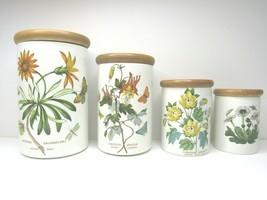 4 VINTAGE Botanic Garden Portmeirion Canister Storage Spice Jars VARIETY... - £70.93 GBP