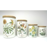 4 VINTAGE Botanic Garden Portmeirion Canister Storage Spice Jars VARIETY... - $87.09