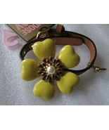 Juicy Couture Doggy Collar Necklace Bracelet Big Yellow Flower Vachetta ... - $118.80