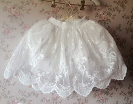 Mini Lace Baby Tutu Girl White Tutu Skirt image 6