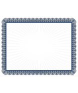 """NEW Blue Border Blank Certificate 8-1/2 x 11"""" Pack/100 65# Paper NoFade ... - $14.15"""