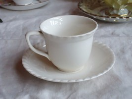 Johnson Bros. Old English Demitasse Cup & Saucer Undecorated 'Old English' - $14.85