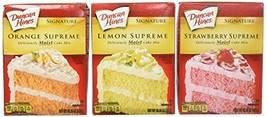 Duncan Hines Signature Cake Mix Bundle - Strawberry Supreme, Orange Supreme, Lem