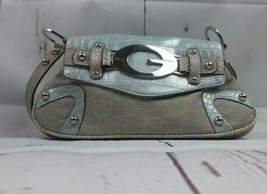 Guess hand bag Beige and Silver Purse - $20.57