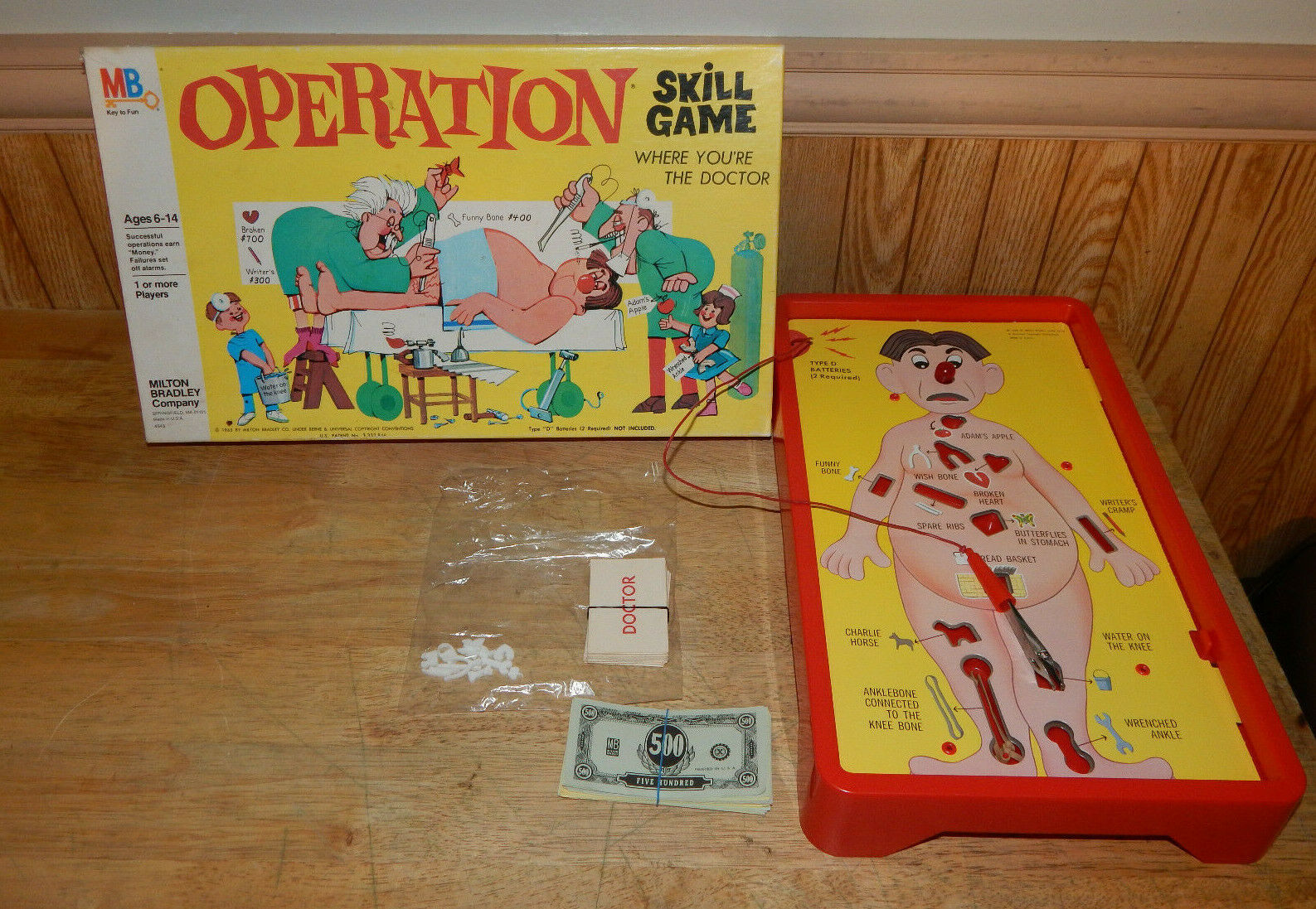 Primary image for 1965 Hasbro Milton Bradley Operation Skill Game Complete Working