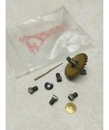 Vintage Or Antique 8 Pieces Clock Parts Screws Brass Gear More - $9.89