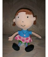Hallmark May 2011 Girl Doll Plush DOESN'T WORK KID3132 Broen Hair Pink S... - $11.87