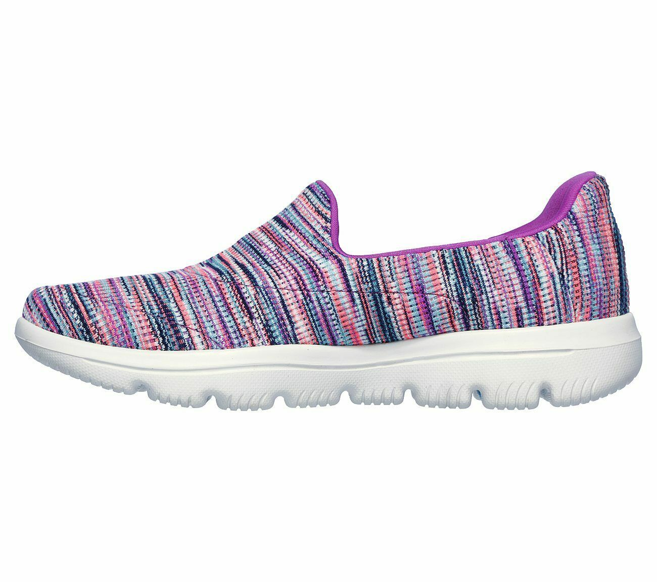 Skechers Shoes Purple Pink Go Walk Evolution Women's Sporty Casual Slip On 15759 image 3