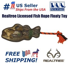 Realtree Fish Rope Floaty Toy Camouflage Hunting Dog Apparel Toys & Acce... - $11.87