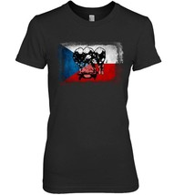 Czech Republic Bobsled black T Shirt Bobsleigh National Flag - $19.99+
