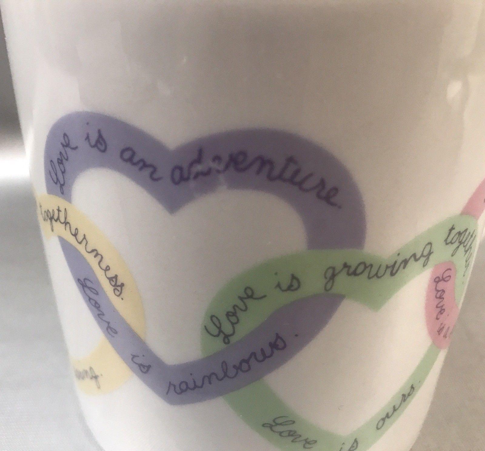 Avon LOVE IS  Double Heart Handle Coffee Mug Vintage 1980's VALENTINE GIFT!