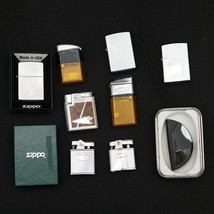 Lot of 10 Ten Used Zippo Ronson RitePoint Vector Lighters w/ Cases & Boxes - $62.99