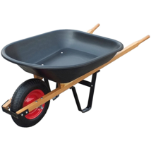 Yard Lawn Garden Cart wheelbarrow, barrow, pushcart, Resistant Weel pall... - $74.95