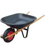 Yard Lawn Garden Cart wheelbarrow, barrow, pushcart, Resistant Weel pall... - $100.36 CAD