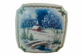 Melodies Christmas Music Box Heritage House figurine Silent Night 1987 C... - $28.98