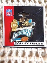 NFL JACKSONVILLE JAGUARS GOLDEN FOOTBALL PLAYER & HELMET LAPEL PIN 2002~... - $4.79