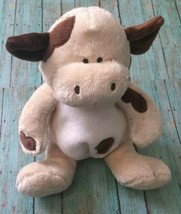 Baby Boyds Cow Lovey Rattle Stuffed Animal Plush Soft Toy Embroidered Eyes HTF - $49.49
