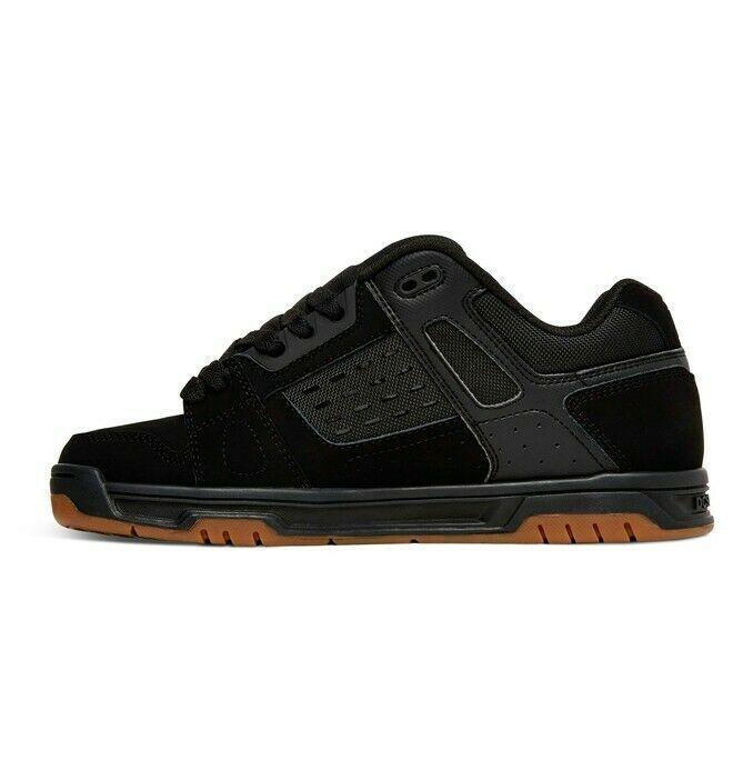 Mens DC Stag Skateboarding Shoes NIB Black Gum        (bgm) image 3