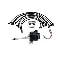 SBC Chevy 283 327 350 383 HEI Distributor with 8Mmm Spark Plug Wires image 1