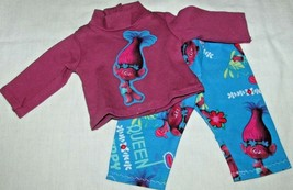 """15"""" doll clothes hand made outfit pajamas Trolls movie Poppy shirt top p... - $8.90"""