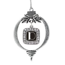 Inspired Silver My Vintage Initials - Letter D Classic Holiday Decoration Christ - $14.69