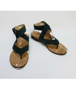 Donald J Pliner Shoes Sandals Green Thong Wraparound Ankle Strap Lola Si... - $79.15