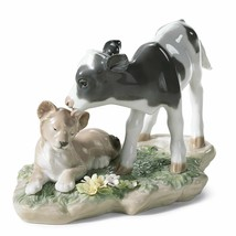 Lladro Porcelain 01006927 THE CALF AND THE YOUNG LION Retired New 6927 a... - $374.00