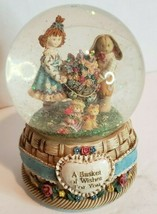 "San Francisco Music Box Company Snow Globe ""A Basket of Wishes For You"" ... - $19.77"