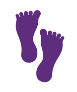 LiteMark 7 Inch Purple Removable Barefoot Decals for Floors and Walls 12... - $19.95