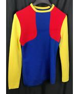 Vintage Lido of California Virgin Wool Womens Ski color block Sweater Si... - $43.65