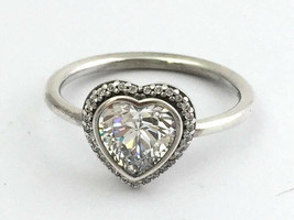 Authentic Pandora Sparkling Love Ring, Sterling Silver 190929CZ-56, Size... - $59.06