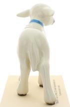 Hagen-Renaker Miniature Ceramic Lamb Figurine Large White with Bell image 3