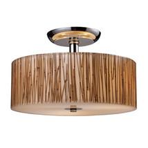 Elk Lighting 19065/3 Modern Organics 3-Light Semi-Flush in Bamboo Stem M... - $310.00