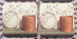 2 Longaberger Basket With Plate Pip Berries Coasters Country Primitive Brand New - $8.00
