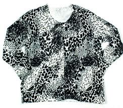 Croft & Borrow Womena 1X Knit Sweater Cardigan Button Up Animal Long Sle... - $7.85