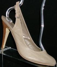 Jessica Simpson 'Viola' taupe almond toe buckle slingback heels 8.5B - $26.70