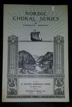Vintage 1940 Nordic Coral Series Sheet Music No. 1377 A Joyous Christmas - $9.50