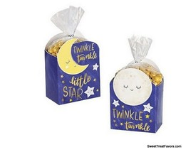Baby Shower 'Twinkle Twinkle Little Star' Favor Boxes w/ Bags Birthday P... - $10.35