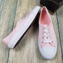 New CONVERSE sz 8 women pink Chuck Taylor All Star coral oxford low top ... - $38.00