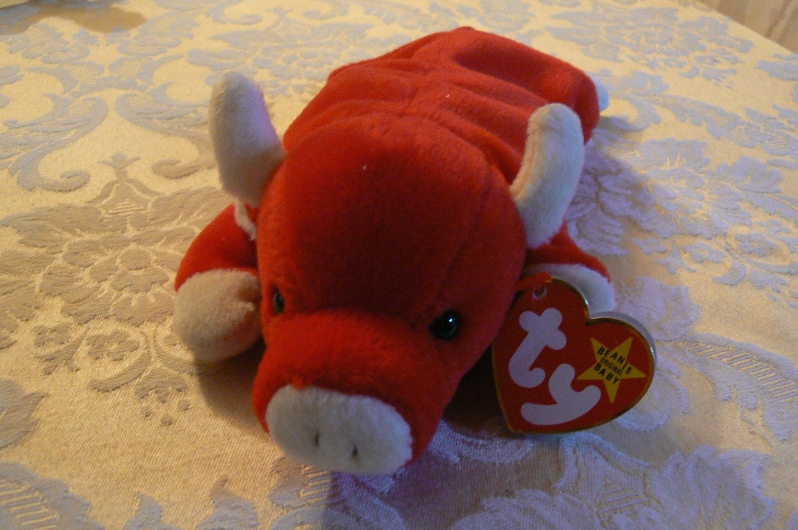 "Vintage Ty Beanie Babies Snort "" The Bull "" Hang Tag/Tush Tag 1995"