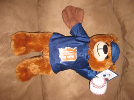 "Detroit Tigers Bear Mlb Baeball Brand New Nwt Stuffed With Tags 13"" Holding Ball - $11.99"