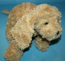 "GUND Puddles Dog 12"" Tan Plush Floppy Puppy Red Collar 13026 Stuffed Ani... - $24.18"