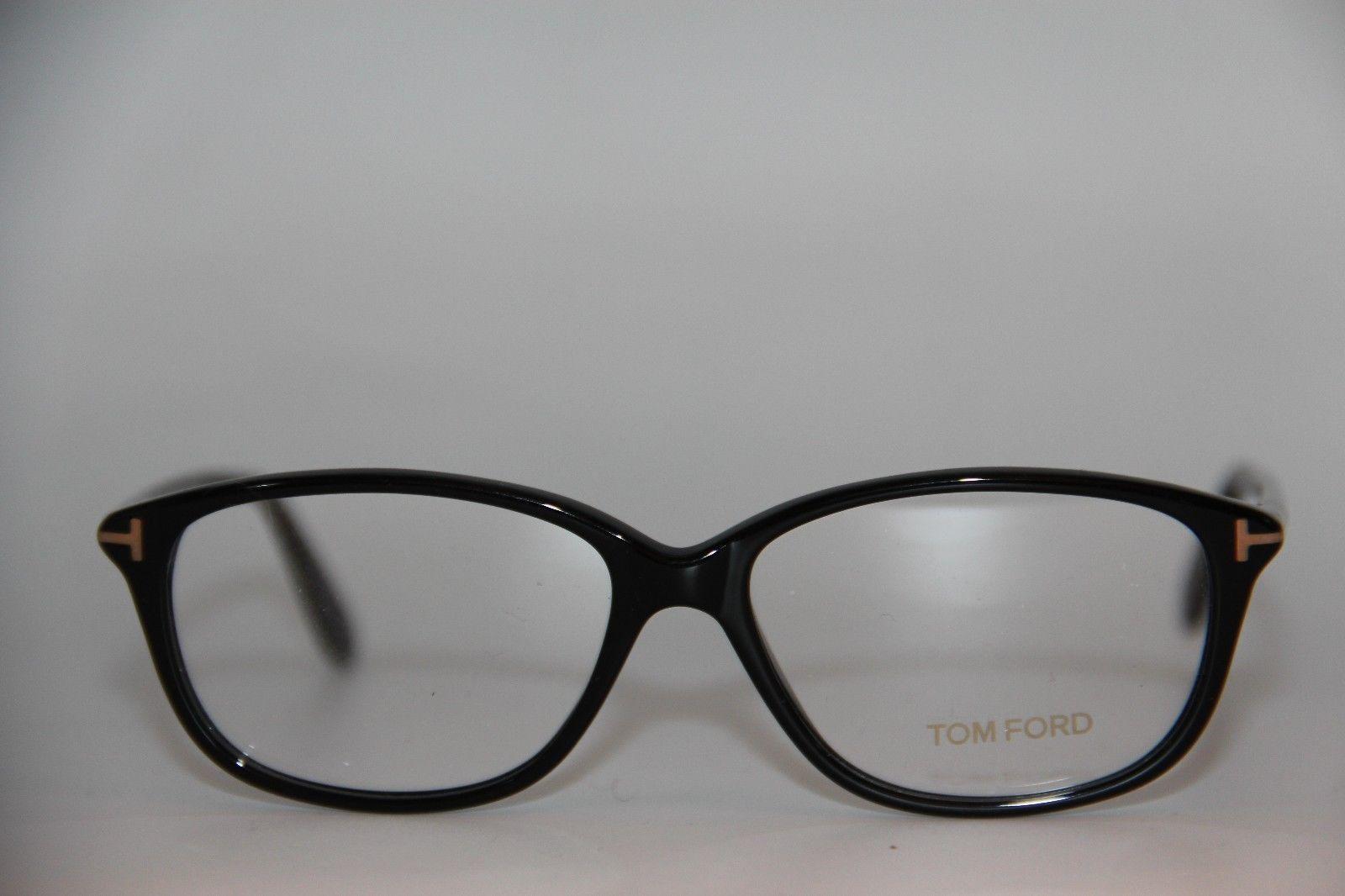 947c200511f NEW TOM FORD TF 5316 001 BLACK EYEGLASSES AUTHENTIC RX TF5316 54-14 W