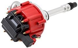 Top Street Performance JM6501RBK HEI Distributor with Red OEM Cap (65K Volt C...