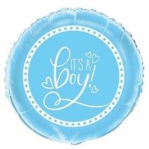 """It's A Boy Blue Foil Mylar 12"""" Balloon Hearts - $3.26"""