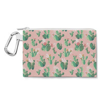 Cactus In Bloom Canvas Zip Pouch - $15.99+