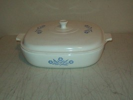 Corning Ware Pyroceram model B-10 covered casserole Cornflower pattern - $11.88