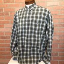Ralph Lauren Mens L Shirt Button Front Bartlett Plaid Long Sleeve Pony (3C8) - $16.82